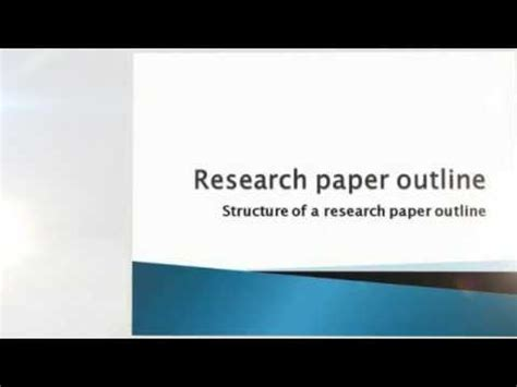 Masters degree research papers